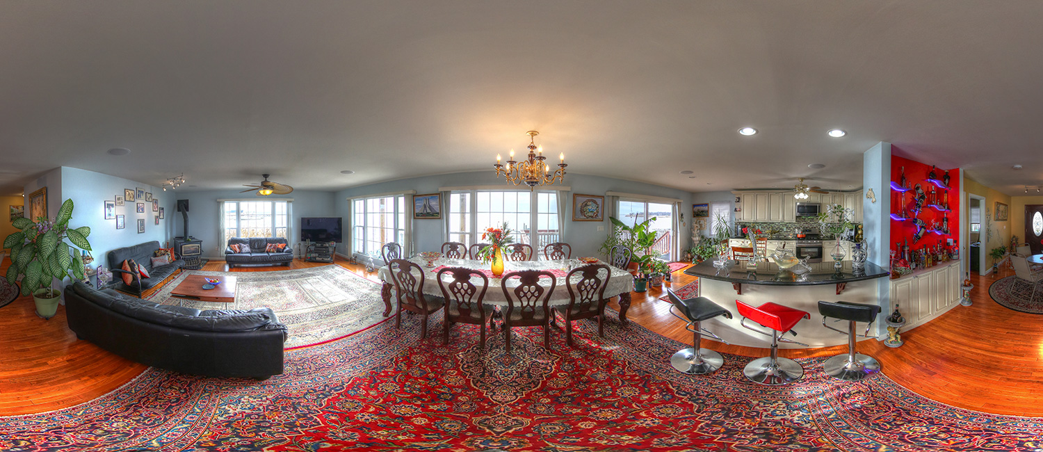 dining-room Real estate photography and virtual tour Lindenhurst NY
